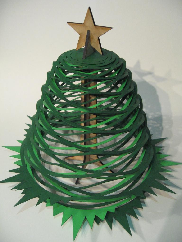 Laser Cut Christmas Trees